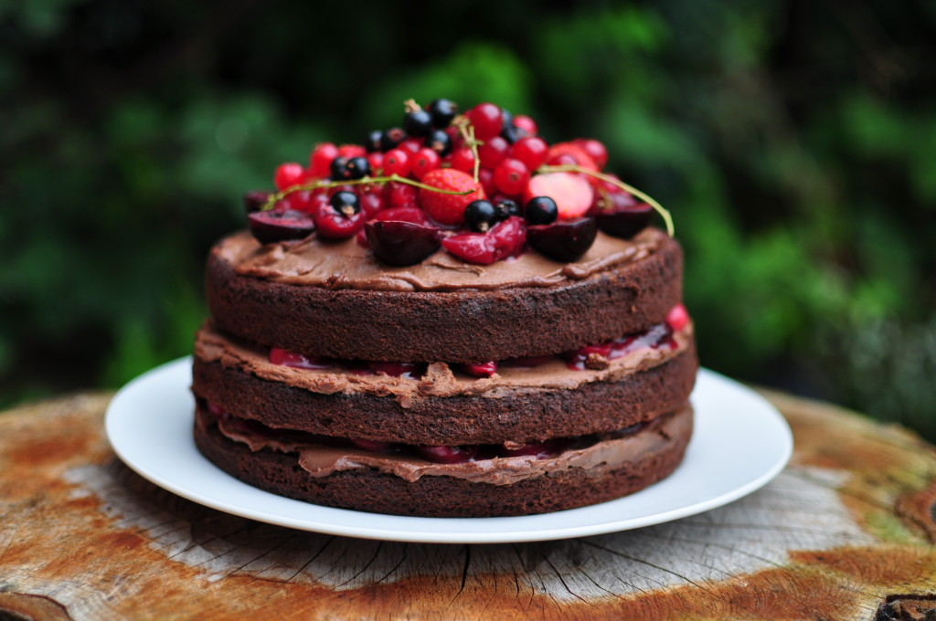 Gluten free,, dairy free, refined_sugar free black forest chocolate cake